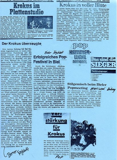 Press Clips KROKUS FIRST 1976