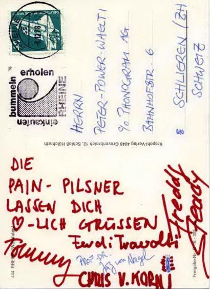 KROKUS postcard