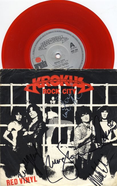 Red Vinyl single ROCK CITY