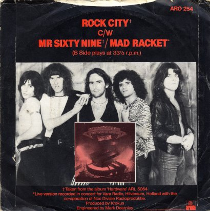 Back Cover 45 single ROCK CITY