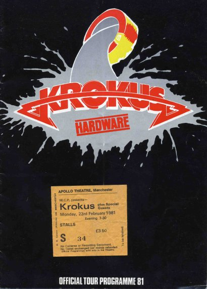 Hardware Tour Programm 1981