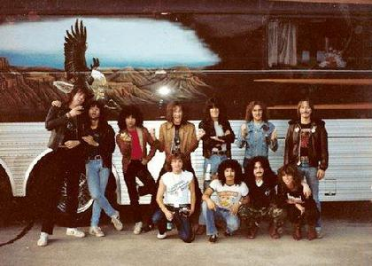 1982 VICE tour band + crew
