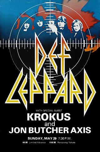Def Leppard - Krokus USA Tour Poster