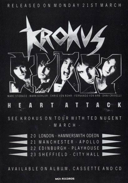 Krokus UK Magazine Ad 3-1988
