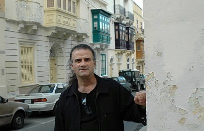Marc Storace on the street he grew up in Malta