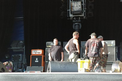 KROKUS Crew During Set Up