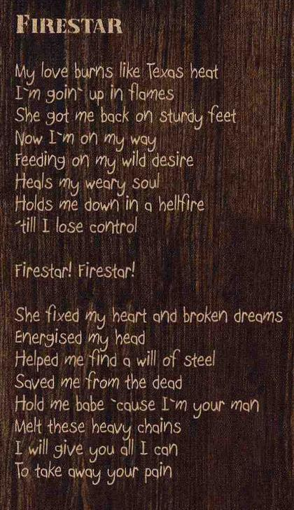 Firestar Lyrics