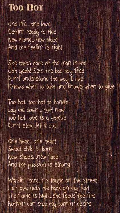 Too Hot Lyrics