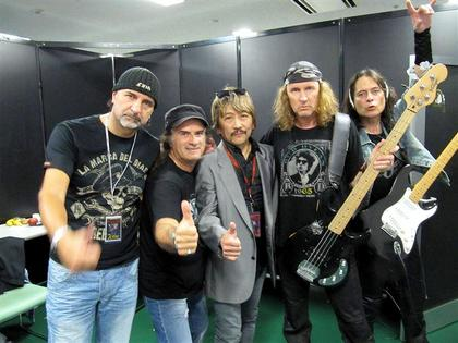 KROKUS backstage in Japan with Promoter
