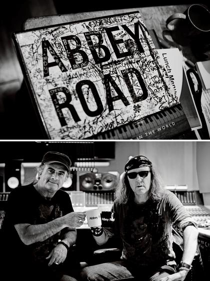 Marc + Chris at Abbey Road Studios