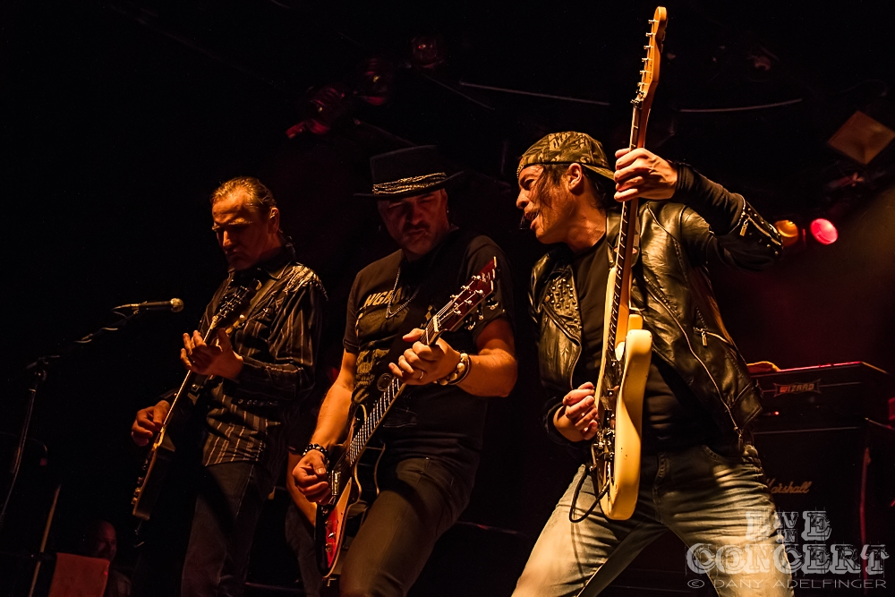 3 Guitareros: Fernanco Von Arb + Mark Kohler + Mandy Meyer