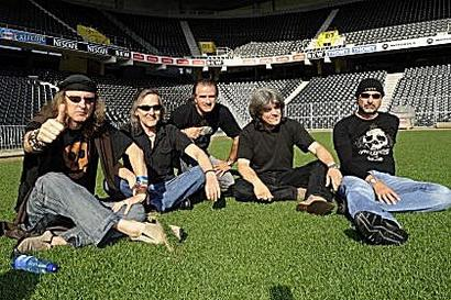 KROKUS on the lawn of football stadium where history will be made!