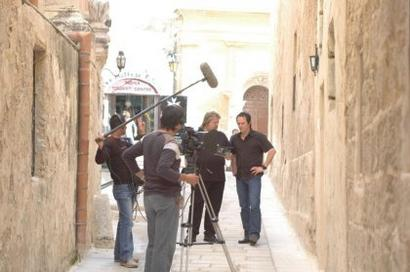 Stefan and Peter with Jean Pierre Gatt & crew (PictureBox-MPS, Ltd., Malta)