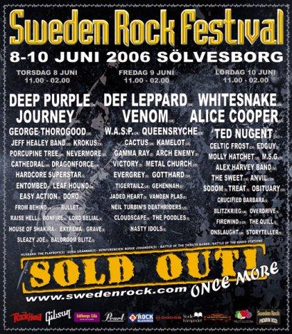 Swedenrock Festival Poster